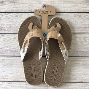 NWT Sperry Top Sider Flip Flops Womens 7.5